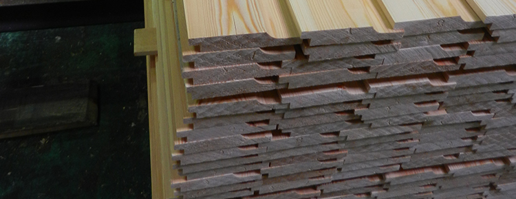 Stacked planed timbers