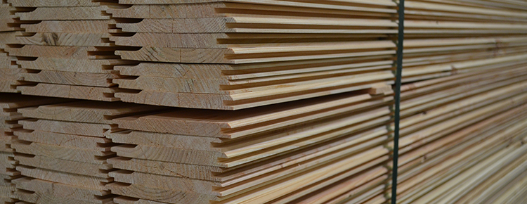 Stack of Softwood Cladding