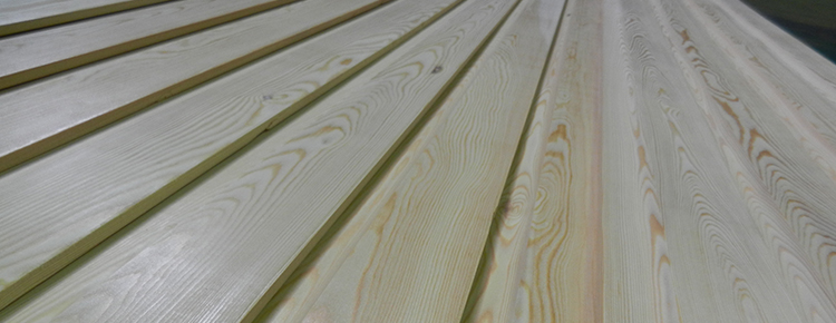Close up of Softwood Cladding